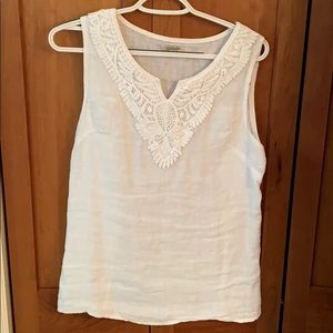 Linda Tomei Top made in Italy linen sz M